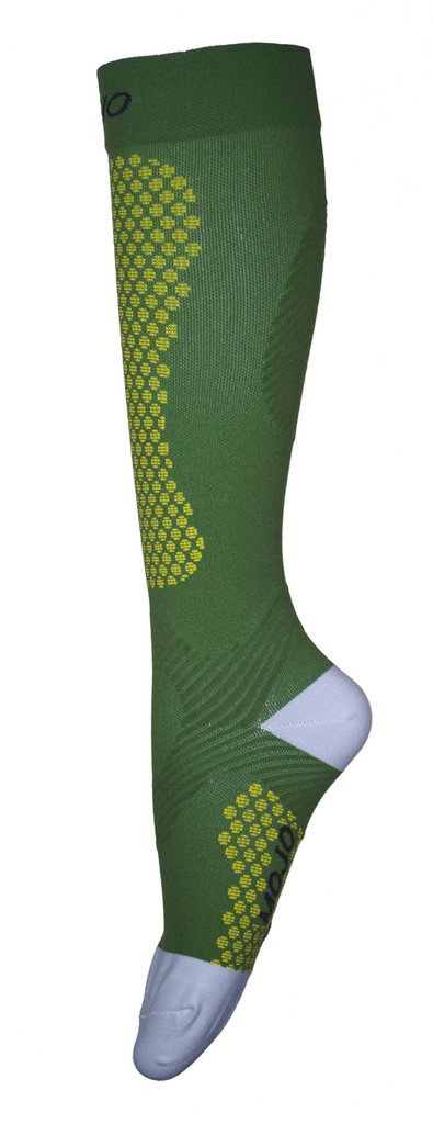 A603GR, , Firm Support (20-30mmHg) Green Knee High Compression Socks, Rear View