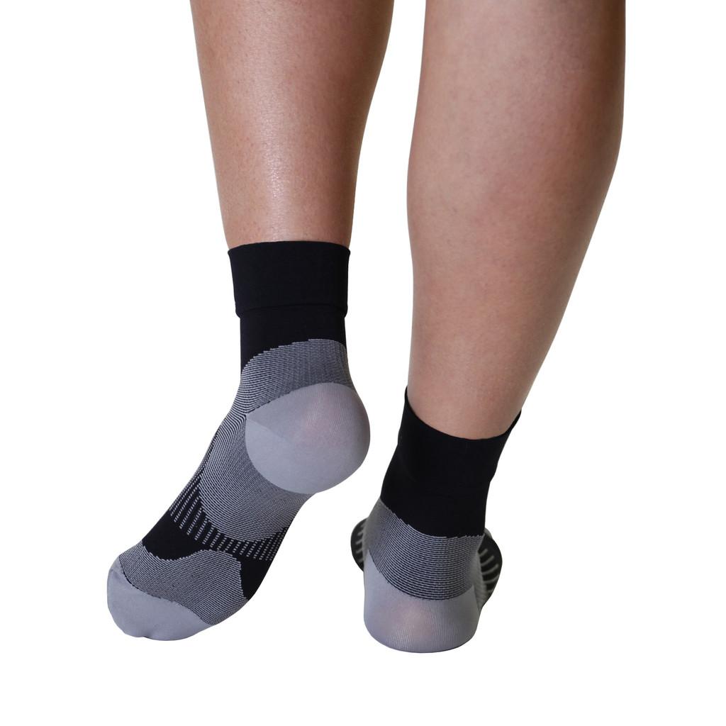 Mojo Compression Socks™ Plantar Fasciitis Closed-Toe Compression Socks - Black