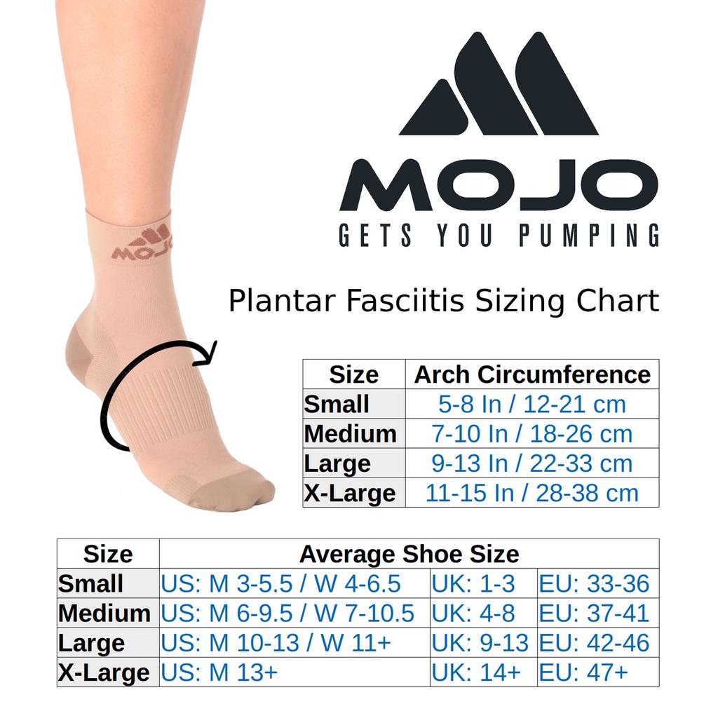 Mojo Compression Socks™ Plantar Fasciitis Closed-Toe Compression Socks - White