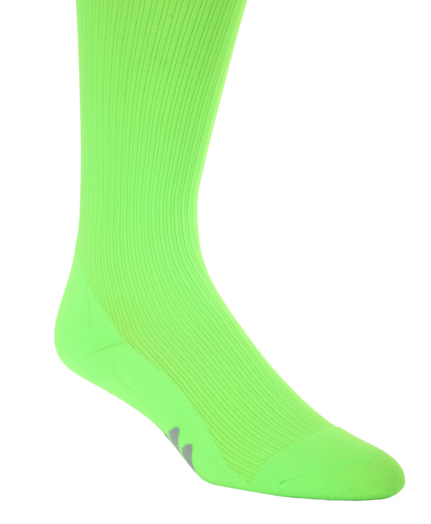 M809AG, Firm Support (20-30mmHg) Action Green Knee High Compression Socks, Rear View