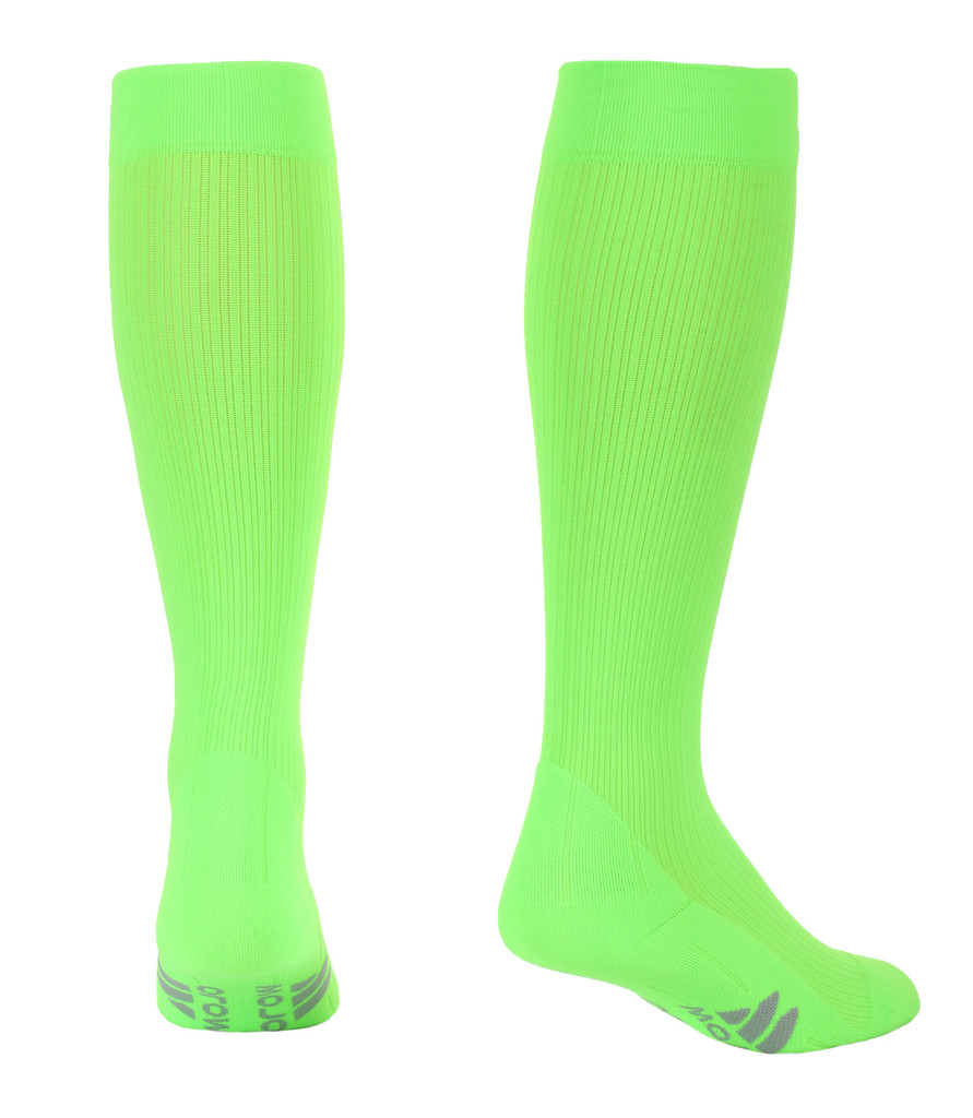 M809AG, Firm Support (20-30mmHg) Action Green Knee High Compression Socks, Back View