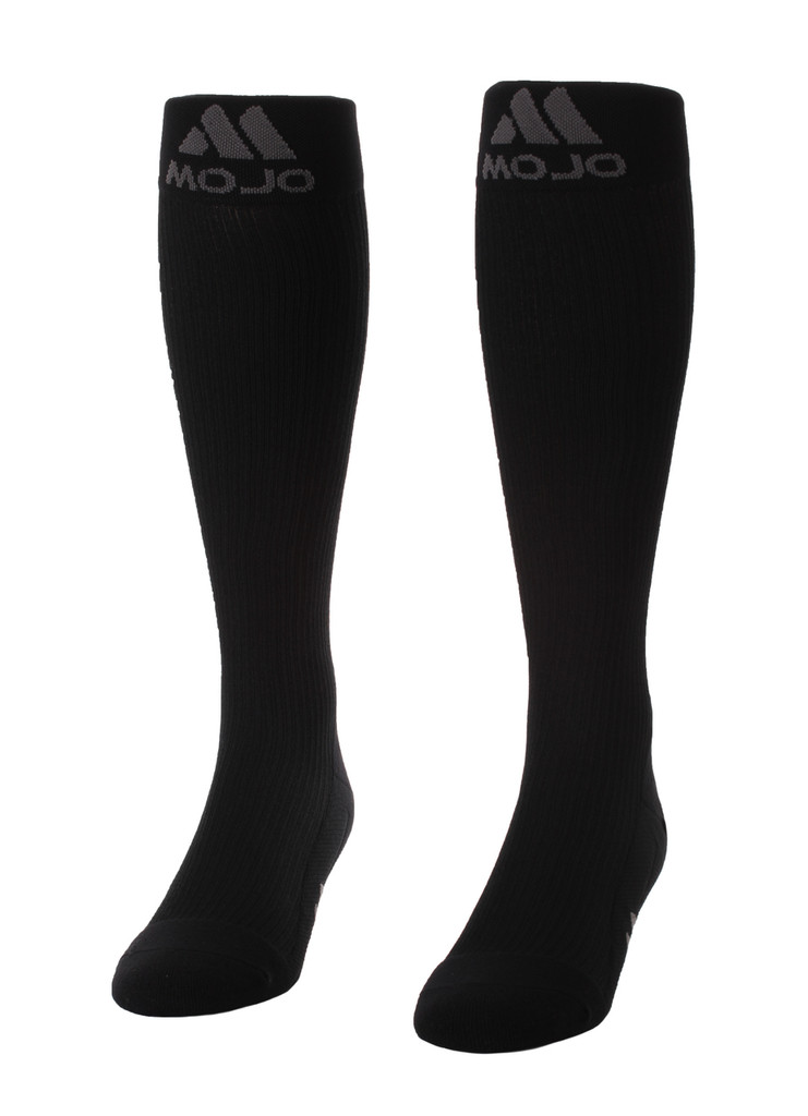 M809BL, Firm Support (20-30mmHg) Black Knee High Compression Socks, Front View