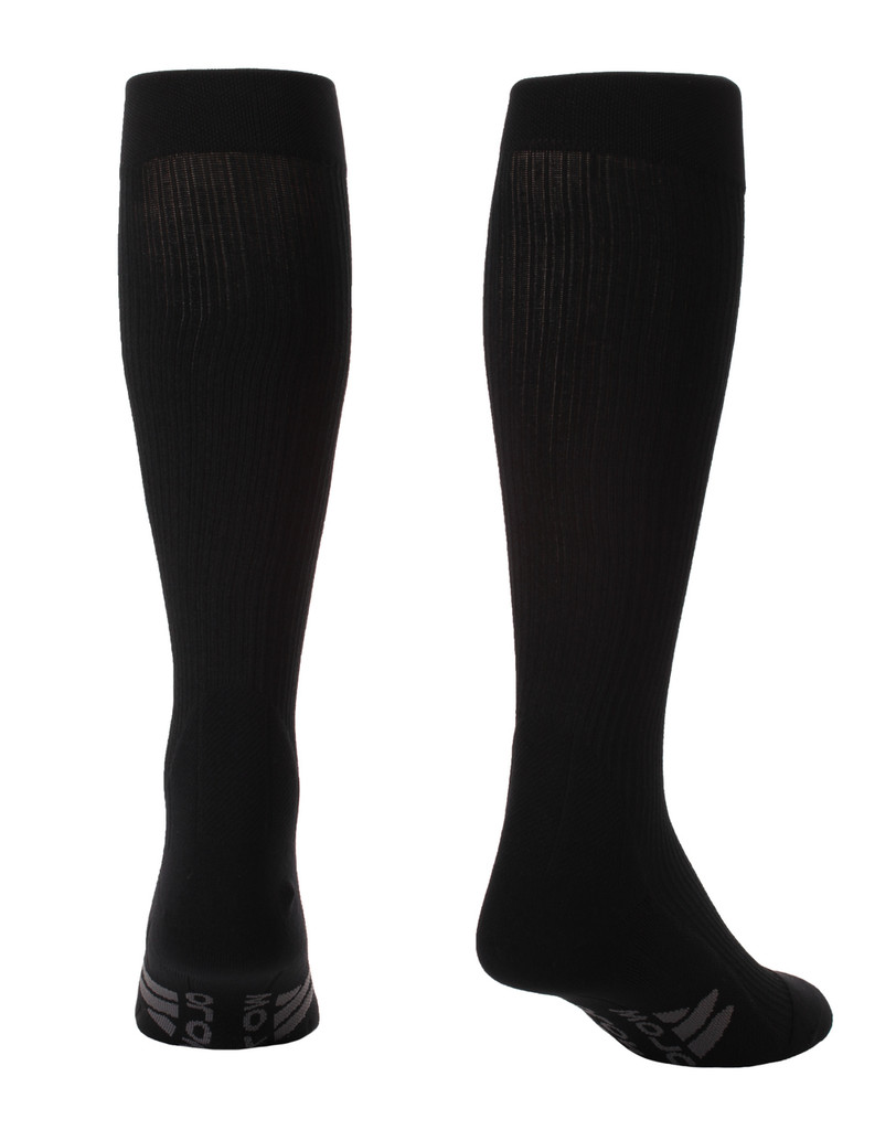 M809BL, Firm Support (20-30mmHg) Black Knee High Compression Socks, Back View