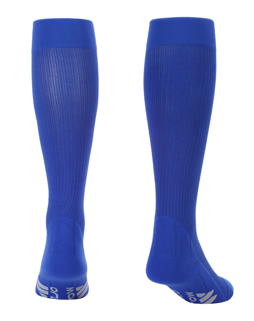 M809RB, Firm Support (20-30mmHg) Royal Blue Knee High Compression Socks, Back View