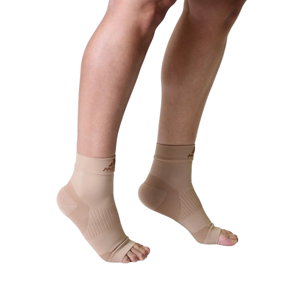 Mojo Compression Socks™ Plantar Fasciitis Open-Toe Compression Socks Beige
