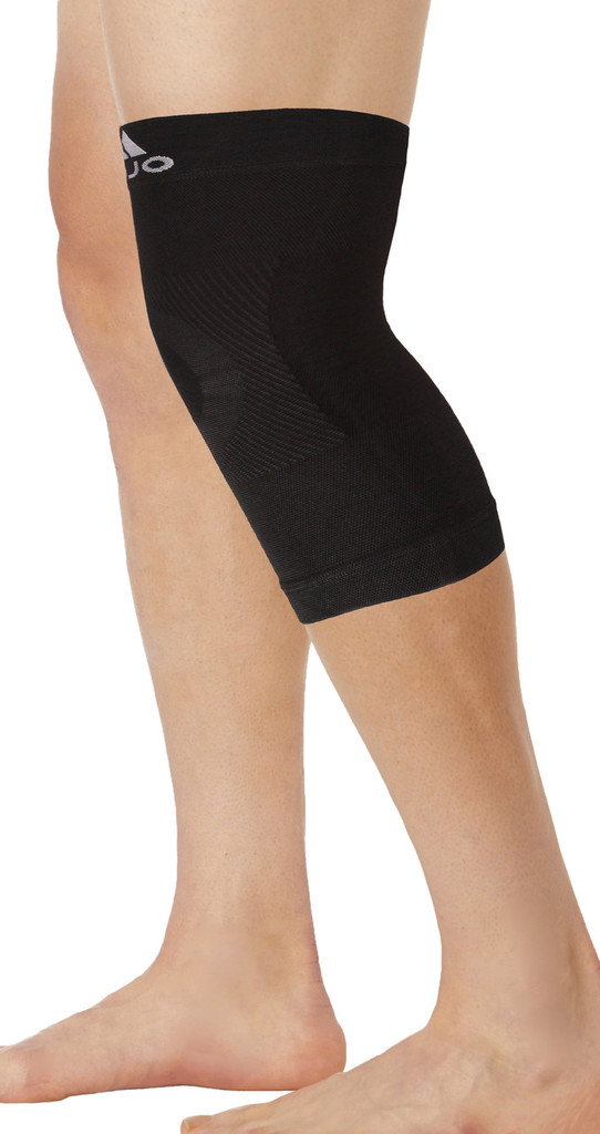 M801BL, Firm Support (20-30mmHg) Black Knee High Compression Socks, Rear View