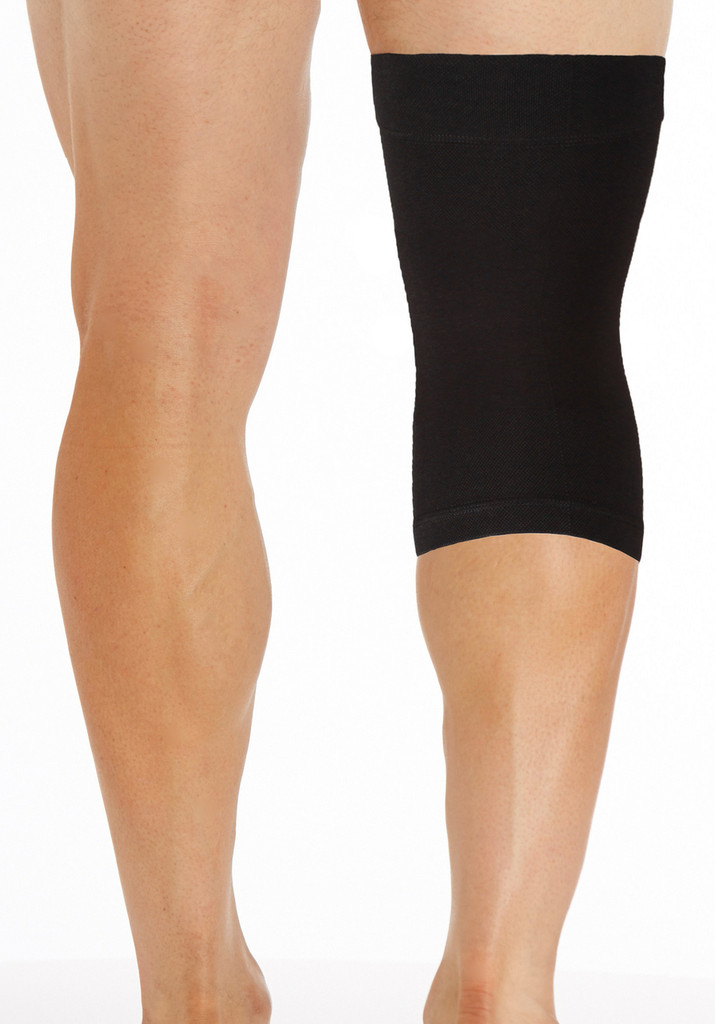 M801BL, Firm Support (20-30mmHg) Black Knee High Compression Socks, Back View
