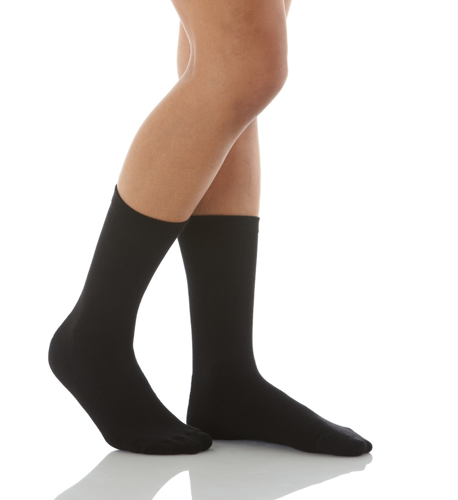Mojo Compression Socks CoolMax Crew Length Compression Sock Black