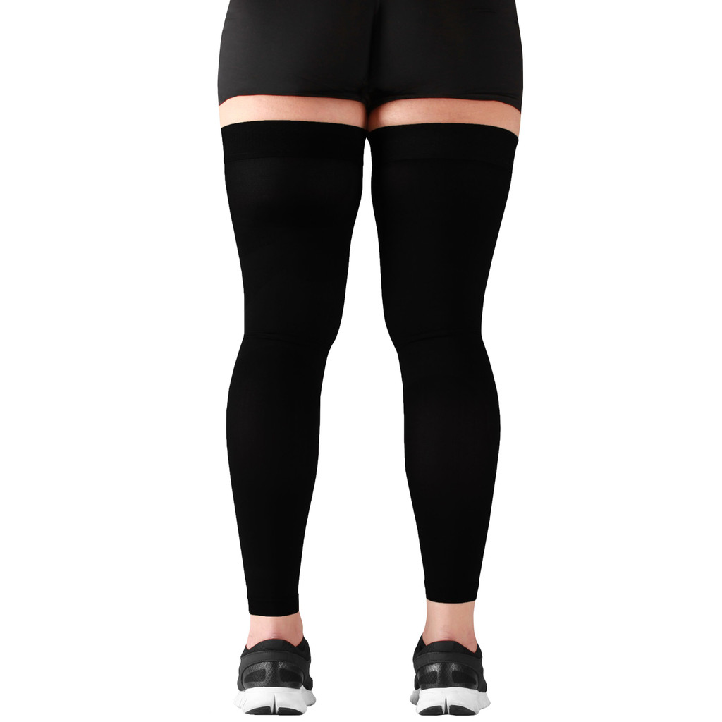 Mojo Compression Socks™ Recovery Graduated Compression Thigh Sleeves Black