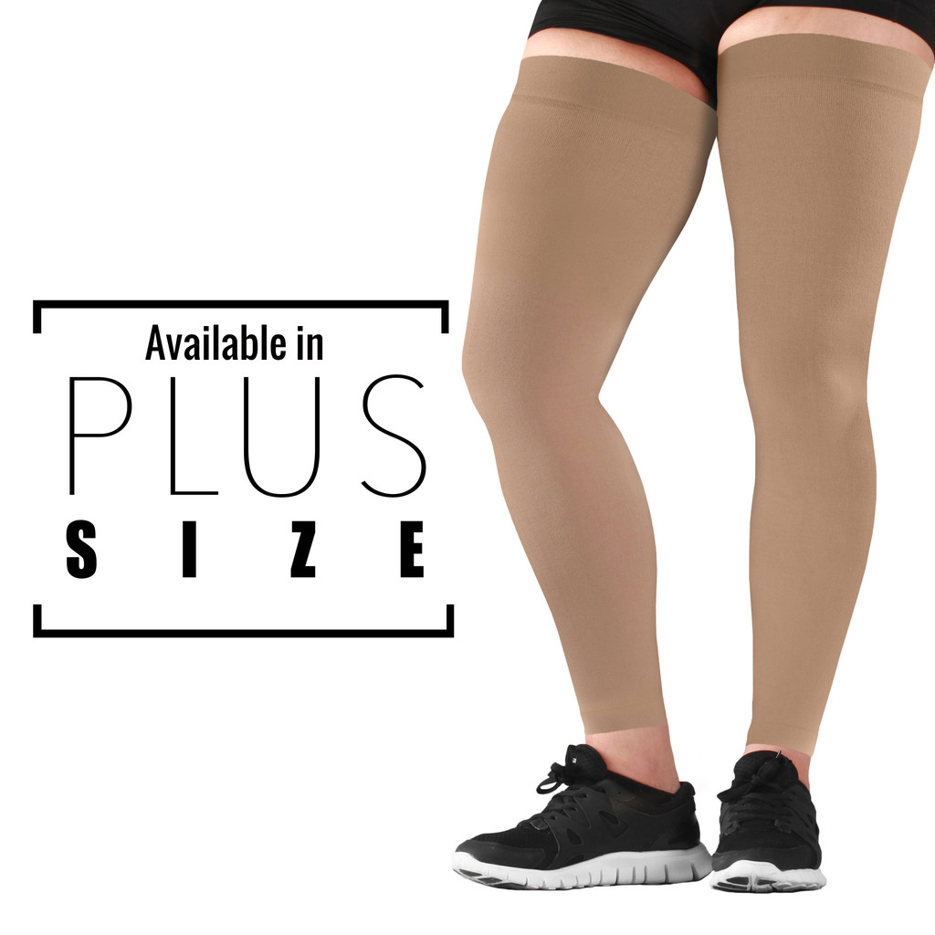 Mojo Compression Socks Recovery Graduated Compression Thigh Sleeves Beige