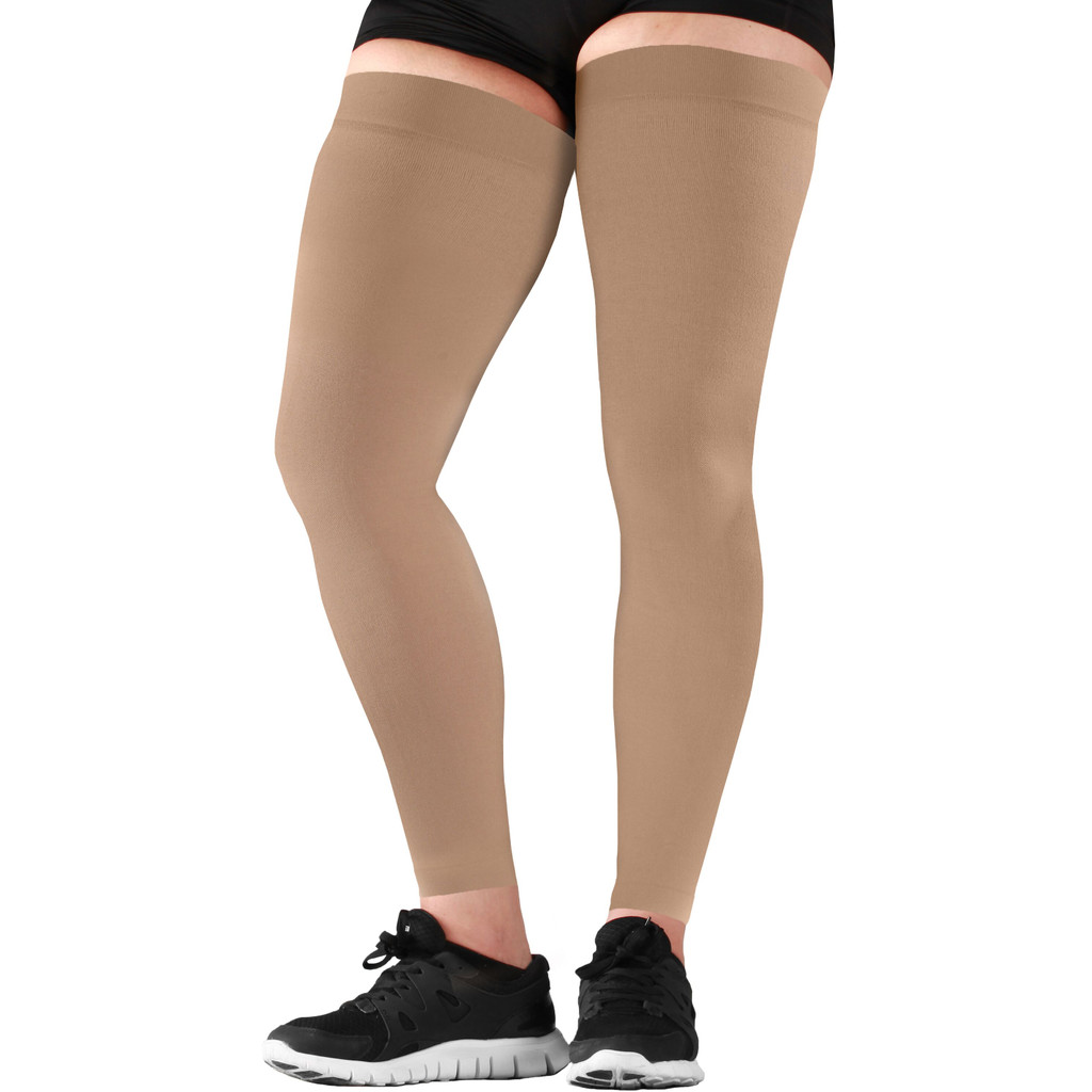 Mojo Compression Socks™ Recovery Graduated Compression Thigh Sleeves Beige