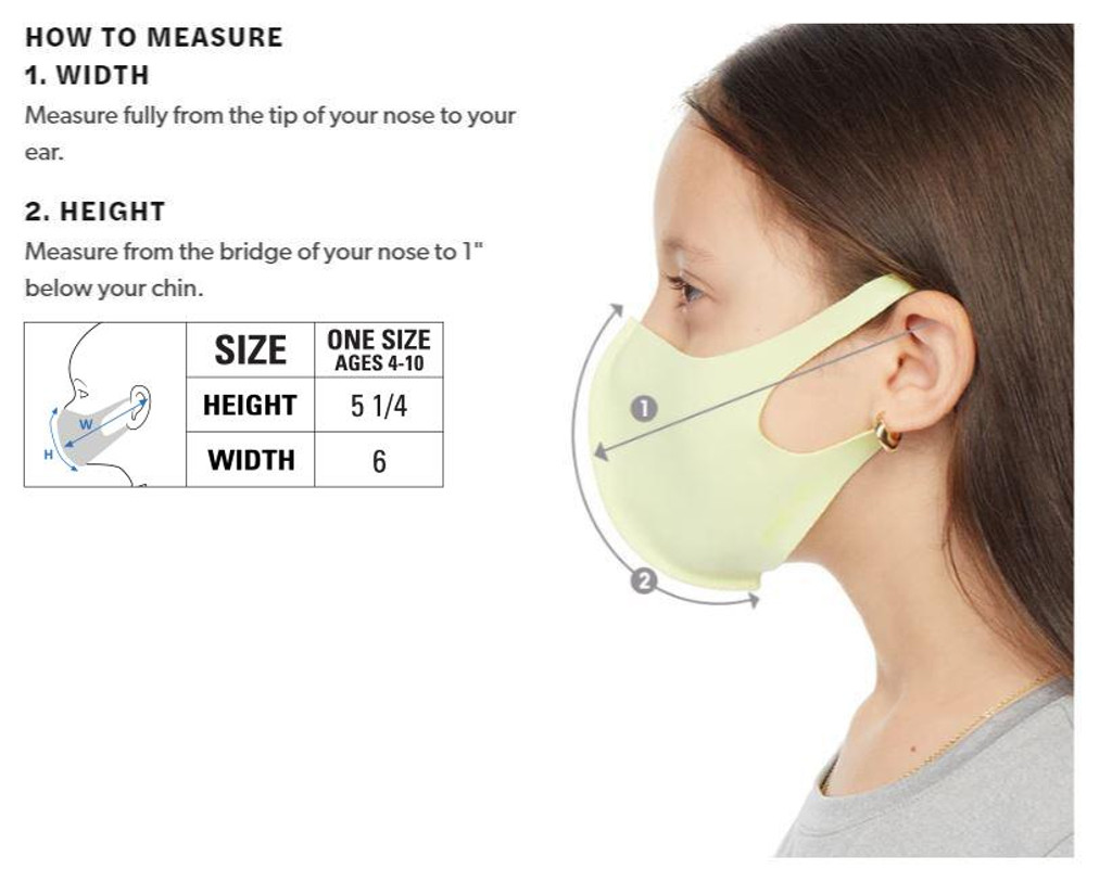 Mojo Kids Reusable Face Mask – Breathable Stretch Comfort, Cooling Anti-Bacterial Silver Infused Yarns, Washable Face Masks, Unisex (8 Pack)