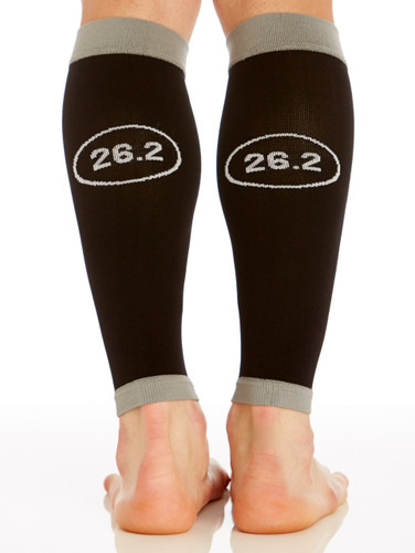 M802BL, Firm Support (20-30mmHg)  Knee High Compression Socks, Back View