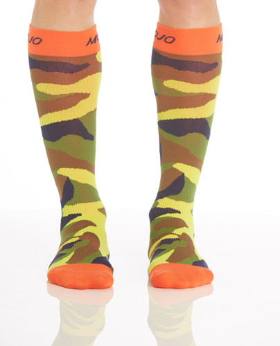 CAMOSOCKC, Firm Support (20-30mmHg) Camo Knee High Compression Socks, Front View