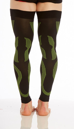Mojo Compression Socks™ Recovery Graduated Compression Thigh Sleeves Black Green