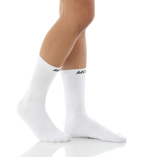 A1011WH, Firm Support (20-30mmHg) White Knee High Compression Socks, Rear View