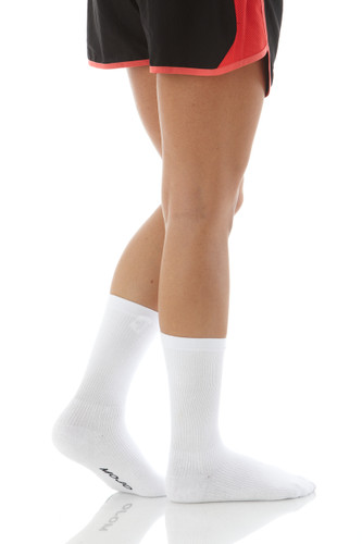 A113WH, Firm Support (20-30mmHg) White Knee High Compression Socks, Front View