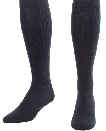 Mojo Compression Socks™ Men's Opaque Compression Socks Firm Support (20-30mmHg) Navy