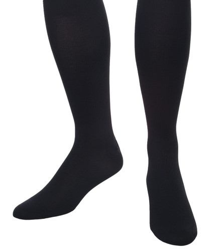 A504NV, Light Support Support (8-15mmHg) Navy Knee High Compression Socks, Front View