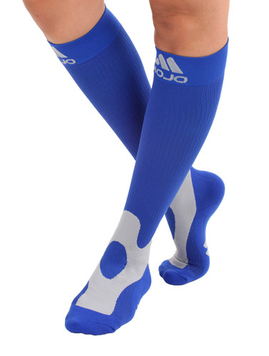 Mojo Compression Socks™ Elite Coolmax Performance & Recovery Compression Socks - Blue