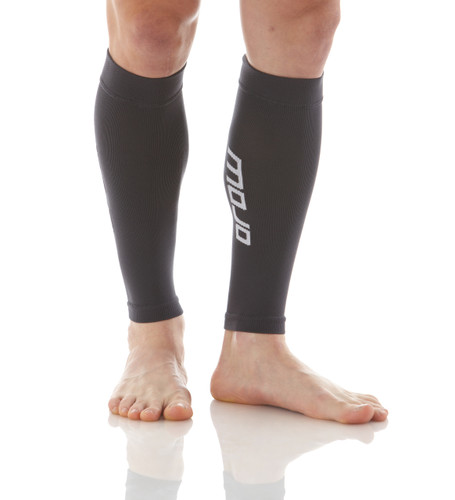 A605BL, Firm Support (20-30mmHg) Black Knee High Compression Socks, Rear View