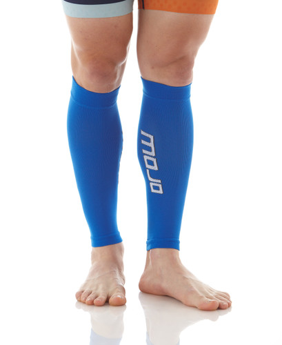 A605Blue, Firm Support (20-30mmHg) Blue Knee High Compression Socks, Rear View