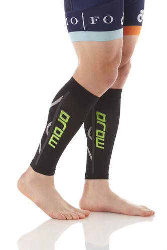 A607BL, Firm Support (20-30mmHg) Black Knee High Compression Socks, Rear View
