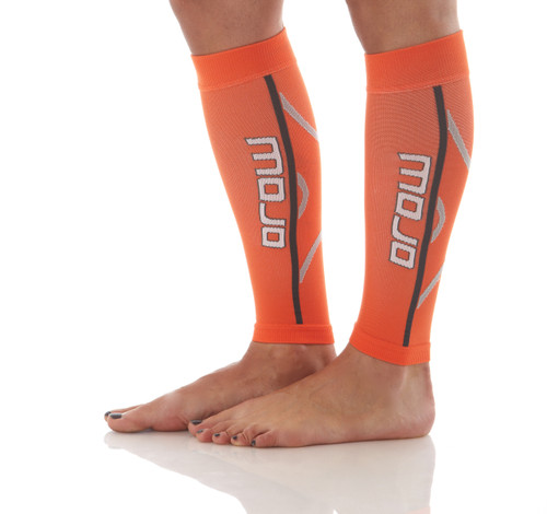 A607OR, Firm Support (20-30mmHg) Orange Knee High Compression Socks, Side View