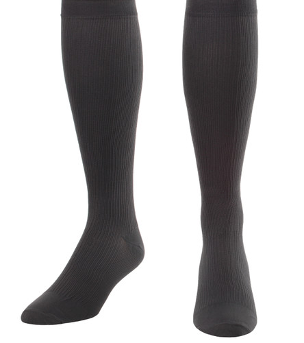 A104GR, Firm Support (20-30mmHg) Grey Knee High Compression Socks, Front View