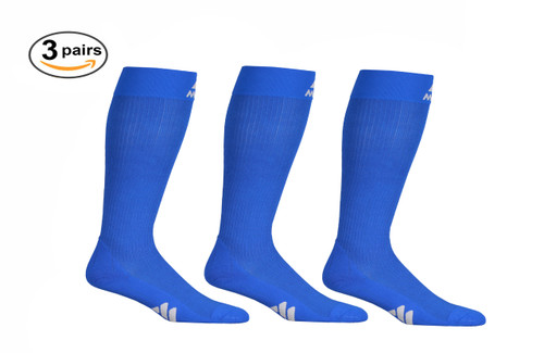 M809RB_3, Firm Support (20-30mmHg) Royal Blue Knee High Compression Socks, Front View
