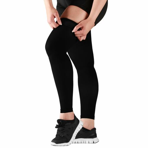 Mojo Compression Socks Recovery Graduated Compression Thigh Sleeves Black