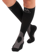 A601BL, Firm Support (20-30mmHg) Black Knee High Compression Socks, Front View