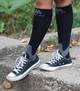 A601BL, Firm Support (20-30mmHg) Black Knee High Compression Socks, Rear View
