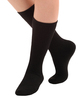 A1017BL, Light Support (8-15mmHg) Black Knee High Compression Socks, Front View