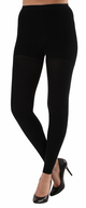 A717BL, Firm Support (20-30mmHg) Black Knee High Compression Socks, Front View