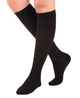 A201BL, Firm Support (20-30mmHg) Black Knee High Compression Socks, Rear View
