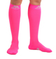 M809HP, Firm Support (20-30mmHg) Hot Pink Knee High Compression Socks, Front View