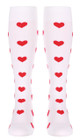 M906WH, Firm Support (20-30mmHg) White Knee High Compression Socks, Back View