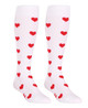 M906WH, Firm Support (20-30mmHg) White Knee High Compression Socks, Rear View