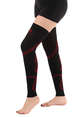 A609BR, Firm Support (20-30mmHg) Black Red Knee High Compression Socks, Rear View