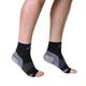 Mojo Compression Socks Plantar Fasciitis Open-Toe Compression Socks Black