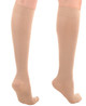 A231BE, Firm Support (20-30mmHg) Beige Knee High compression socks, rear view