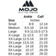 Mojo Compression Socks CoolMax Crew Length Compression Sock Black