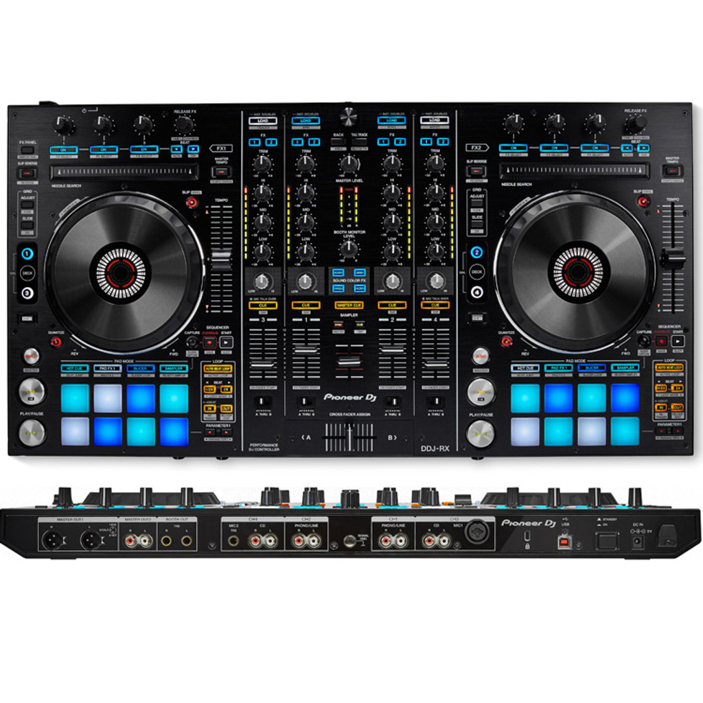 Pioneer DDJRX 4-Channel Rekordbox DJ Controller w/ Performance Pads