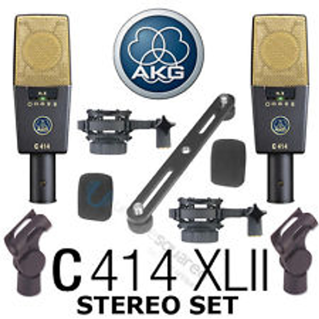 AKG C414 XLII Stereo Set – Matched Pair Multi-Pattern Condenser Microphones