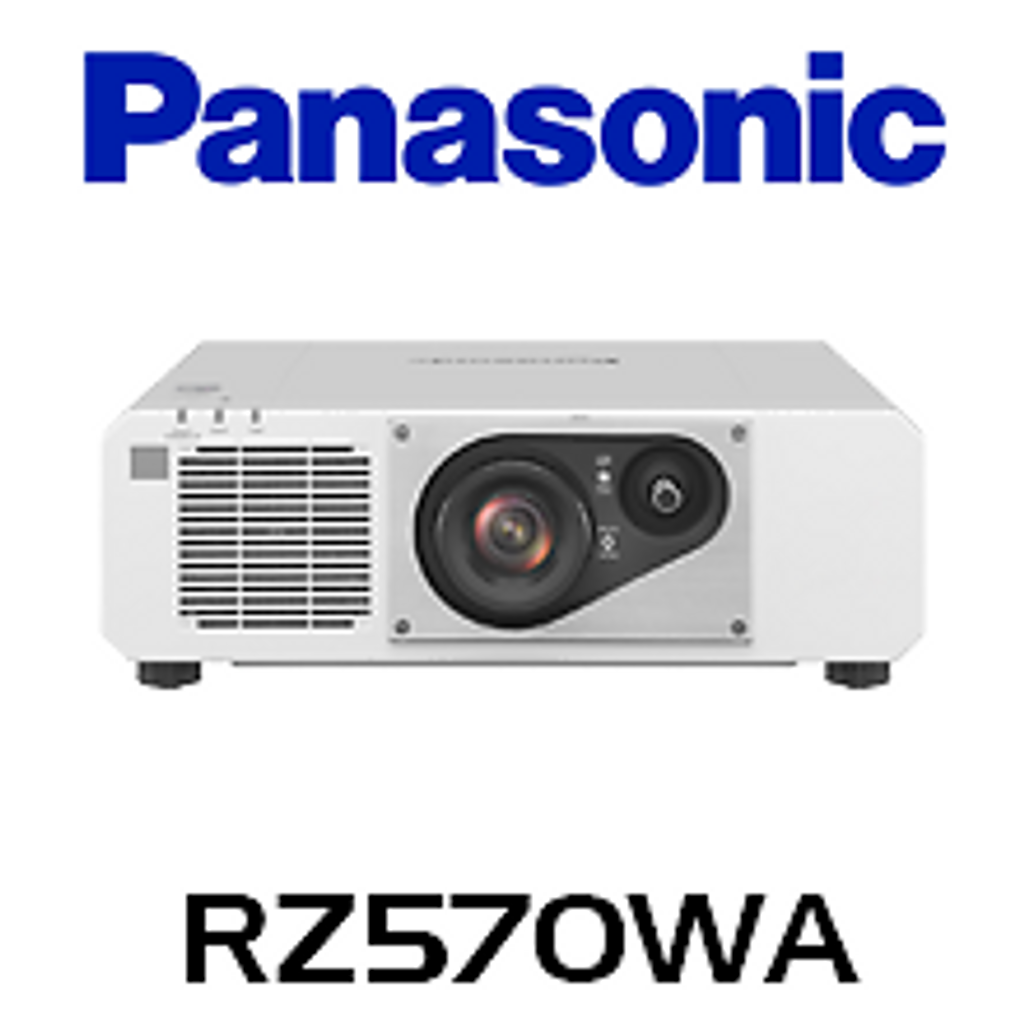Panasonic PT-RZ570WA WUXGA 5200 Lumen Laser Power & Digital Link DLP Projector