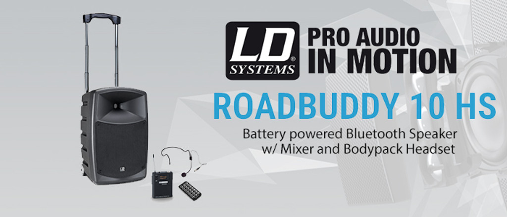 LD Systems RBUD10HS RoadBuddy 10″ Portable Speaker with Headset 480W