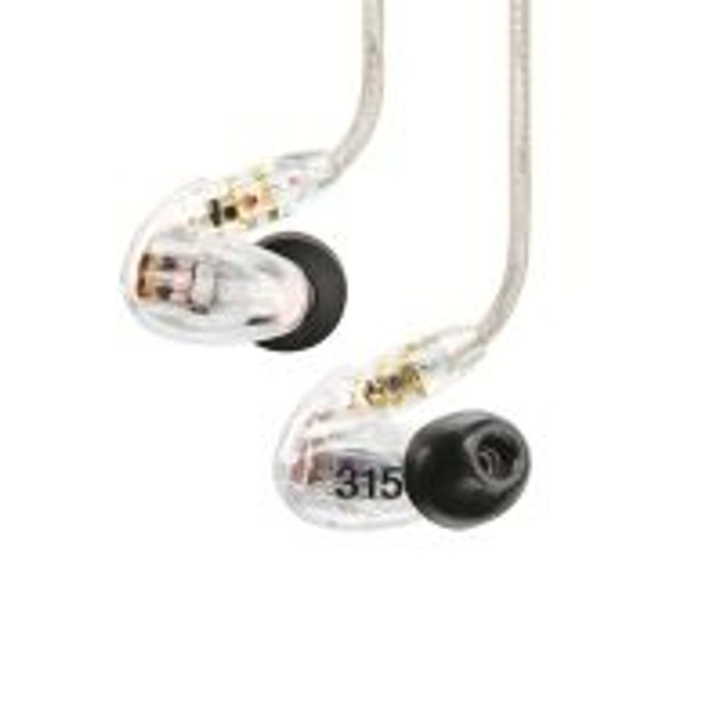 Shure SE315-CL Stereo In-ear Earphones Sound Isolating Clear
