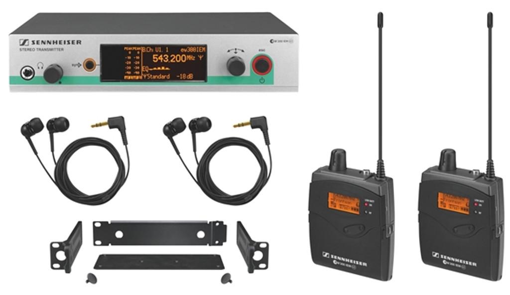 Sennheiser EW 300-2 IEM G3 Wireless Audio Monitoring Sys (B Band, 626-668 MHz)