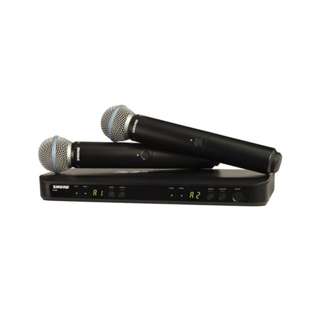 Shure BLX288/BETA58 Wireless Dual Handheld System (M17: 662-686MHz)